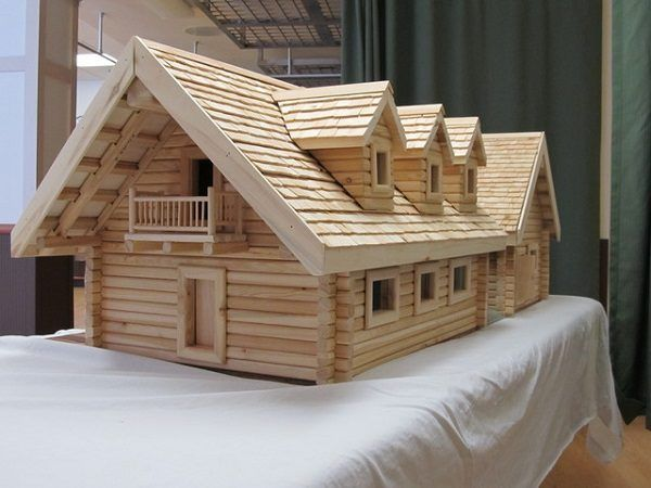 maqueta casa madera