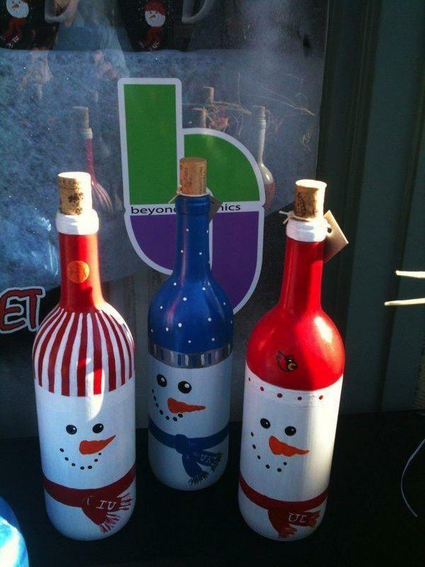adornos-de-navidad-reciclados-con-botellas-de-vino