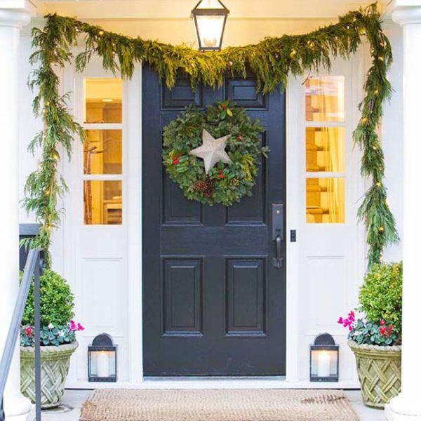 puertas-navidenas-como-decorar-con-estrella