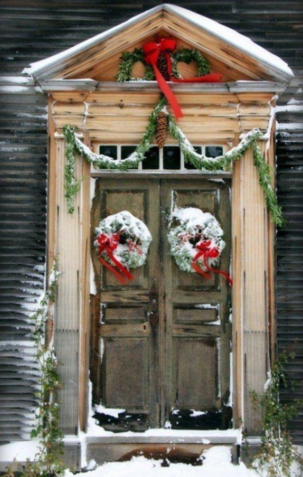 puertas-navidenas-como-decorar-con-nieve