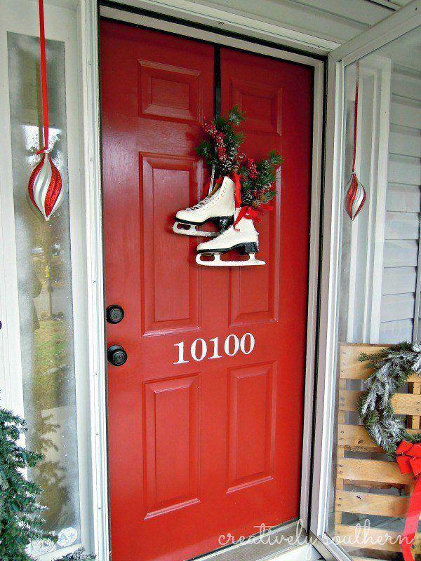 puertas-navidenas-como-decorar-con-patines