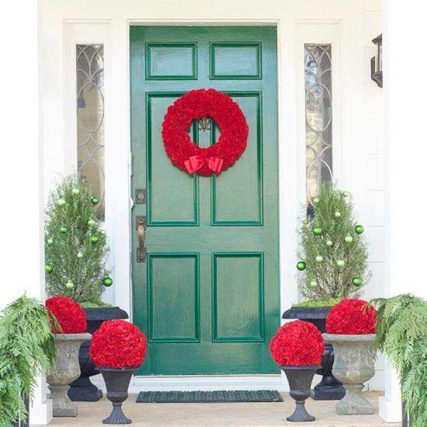puertas-navidenas-como-decorar-en-rojo