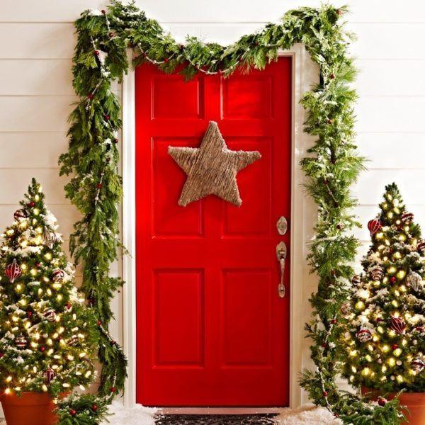 puertas-navidenas-como-decorar-en-verde-y-rojo
