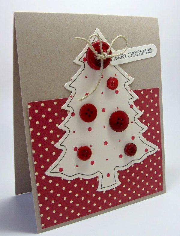 tarjetas-navidenas-manualidades-con-botones