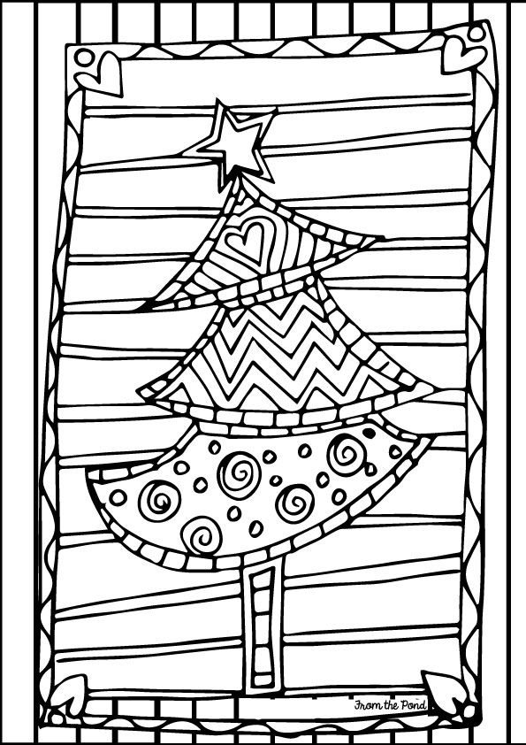 Christmas Light Coloring Page