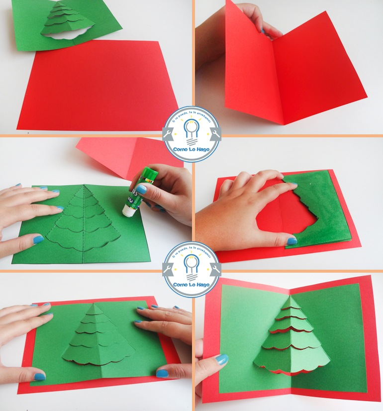 Elegantes tarjetas navide as hechas a mano 2019 - Como hacer tarjetas de navidad faciles ...