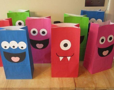 como-hacer-bolsas-de-papel-monstruos