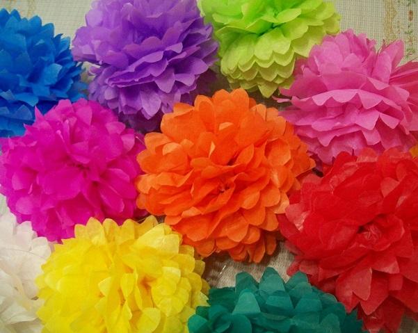 flores papel seda