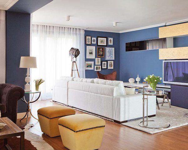 interiores,color,azul,madera
