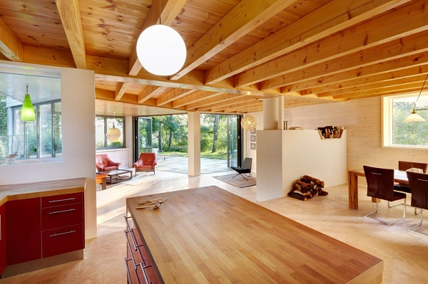 20 colores para interiores para decorar tu casa con estilo - Interior casas de madera ...