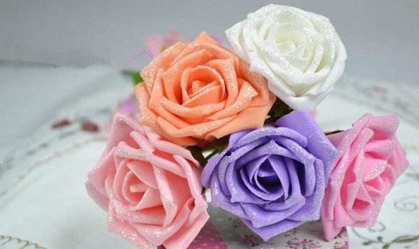 Como Hacer Flores De Goma Eva Paso A Paso Bricolaje 10