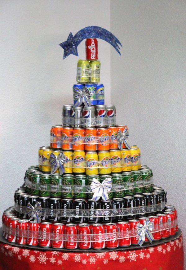 como-hacer-arbol-navidad-reciclado-latas
