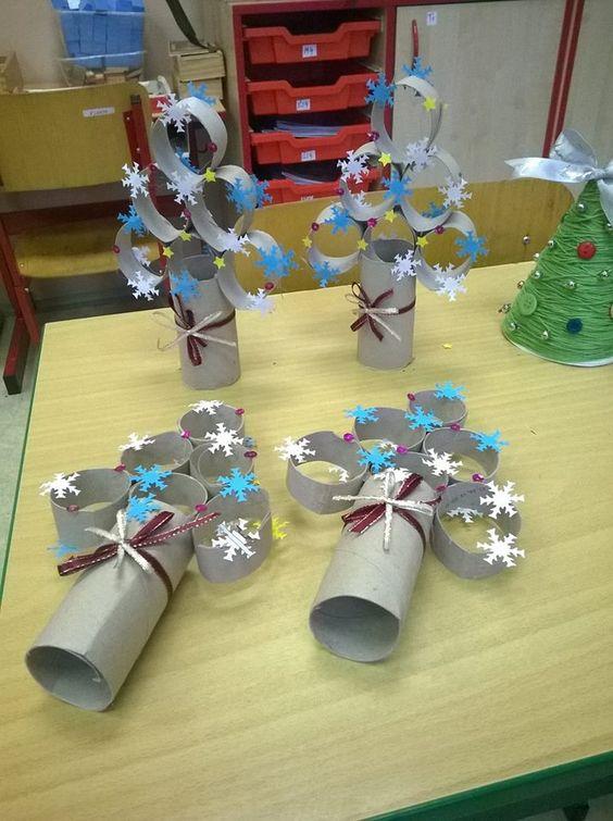C mo hacer un rbol de navidad con material reciclado - Arbol de papel manualidades ...