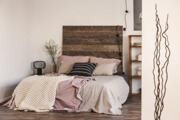 Cabeceros de cama madera tablon