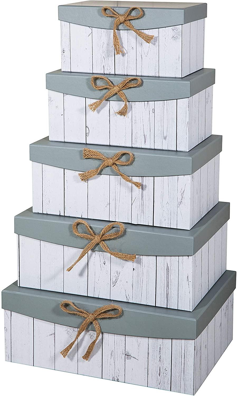 Cajas de cartón decoradas - cajas de cartón decoradas para guardar la ropa lazo