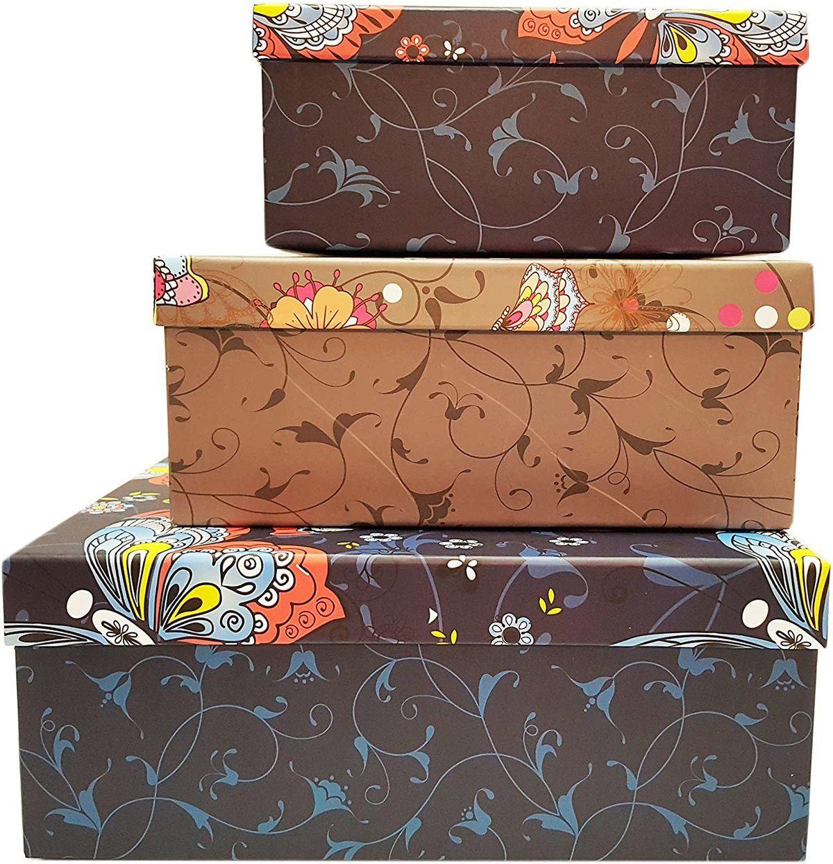 Cajas de cartón decoradas - cajas de cartón decoradas para guardar la ropa vintage