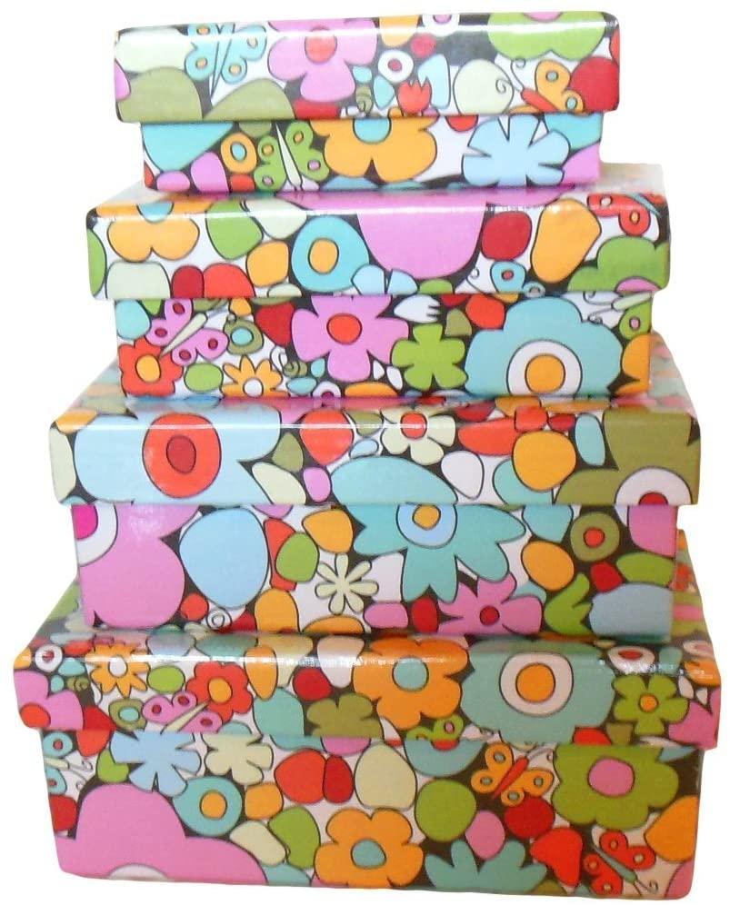 Cajas de cartón decoradas - cajas de cartón decoradas para guardar la ropa 70s