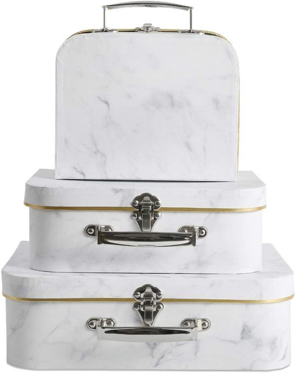 Cajas de cartón decoradas - cajas de cartón decoradas para guardar la ropa maleta