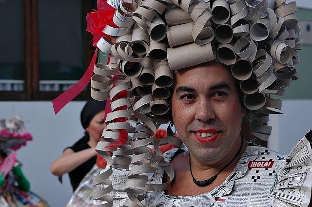 carnaval peluca