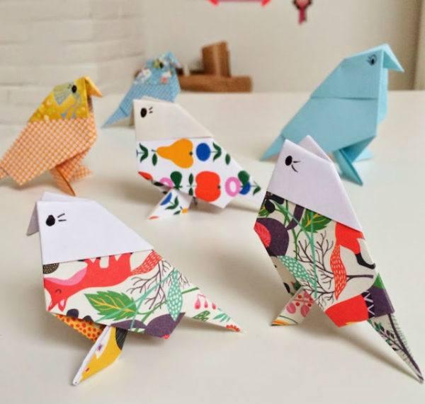 como-hacer-origami-pajaritas-multicolor