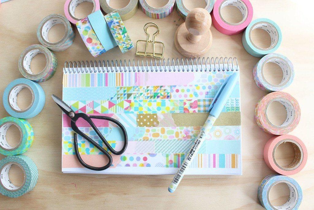 ideas-originales-para-forrar-cuadernos-decorar-libretas-washi-tape