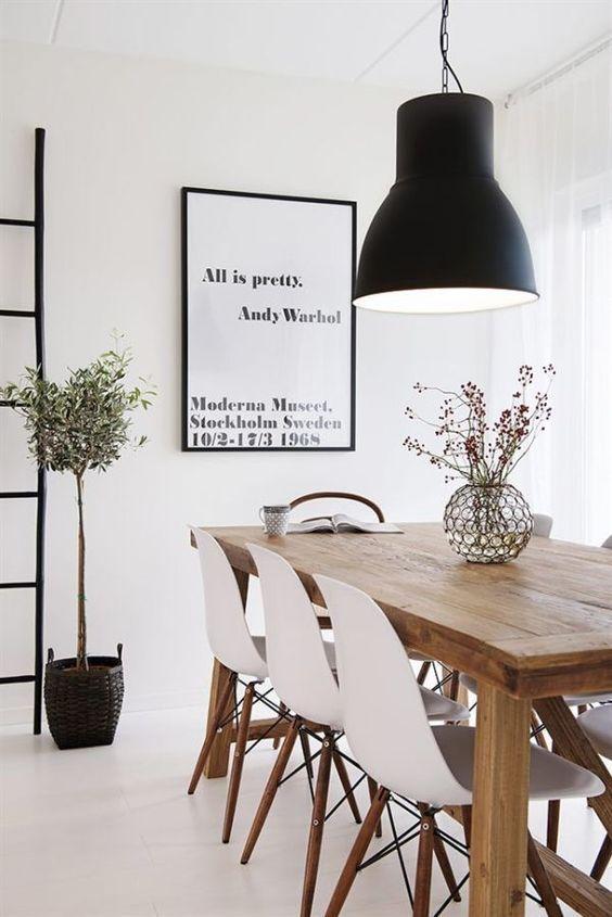 Mesa de Madera | Ideas para Decorar mesas de madera metal