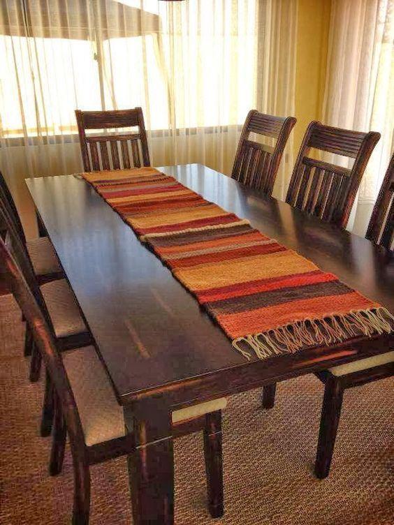 Mesa de Madera | Ideas para Decorar mesas de madera tapete