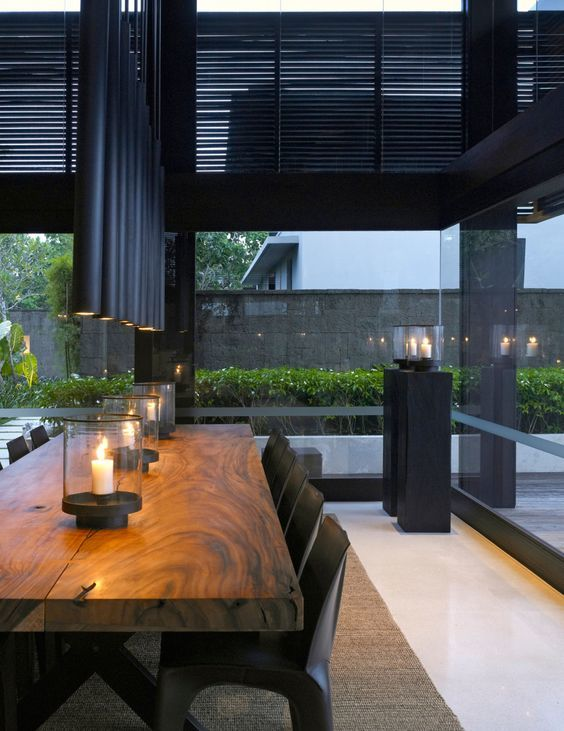 Mesa de Madera | Ideas para Decorar mesas de madera portavelas cristal