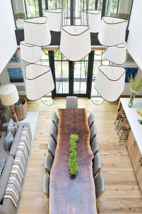 Mesa de Madera | Ideas para Decorar mesas de madera maceta con verde