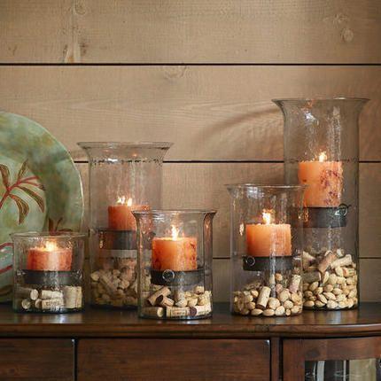 Mesa de Madera | Ideas para Decorar mesas de madera vidrio corcho y velas