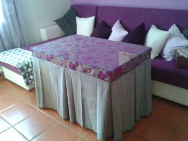 C mo hacer una falda para mesa camilla rectangular bricolaje 10 - Mesas de pale ...
