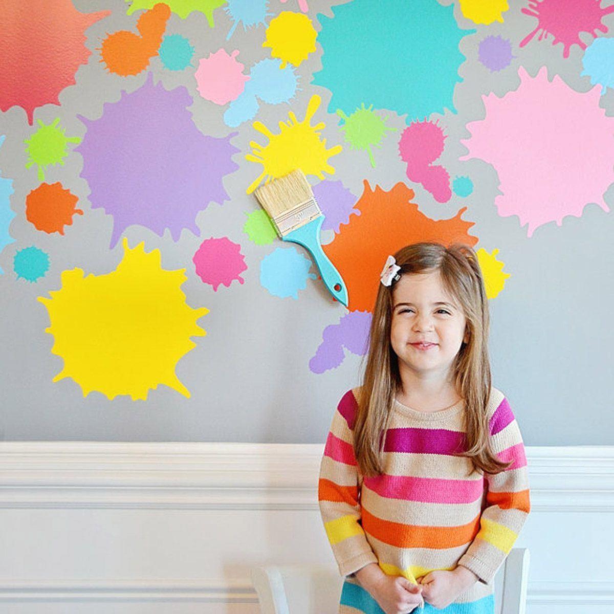 Cómo decorar fiestas infantiles con materiales reciclados manchas colores