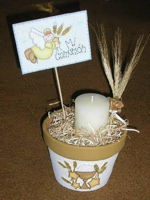 invitaciones de primera comunion con velas