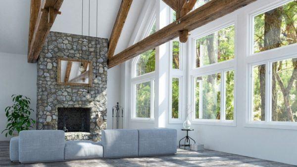 Ideas de chimeneas r sticas con encanto for Se puede poner una chimenea en un piso