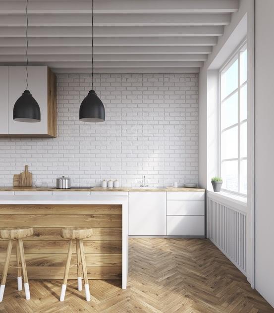 Decoraci n de cocinas r sticas con encanto - Cocina rustica blanca ...