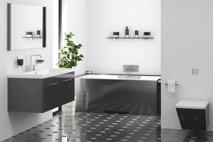 Ideas para decorar ba os modernos y peque os en pisos - Pisos bien decorados ...