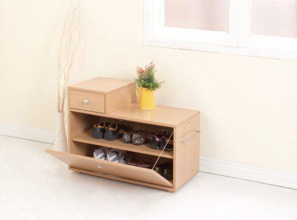 Como hacer un zapatero de cart n de madera y de tela for Bricolaje zapatero madera