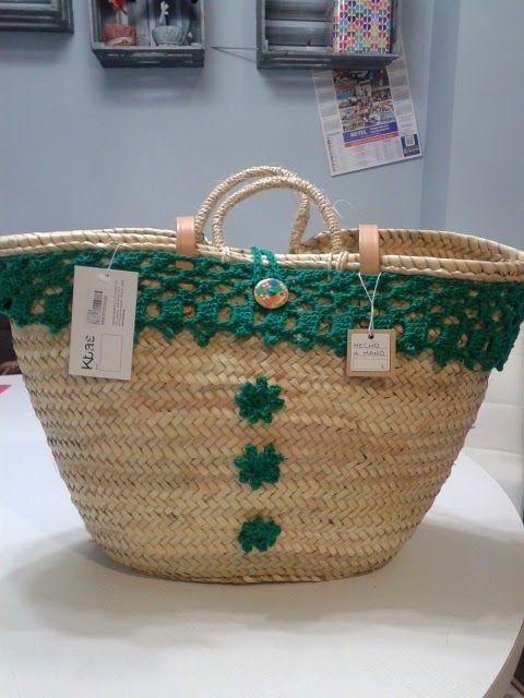 C mo decorar cestas de mimbre con materiales reciclados - Capazos de mimbre decorados ...