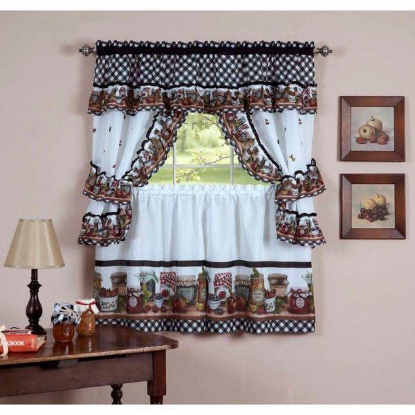 C mo hacer una cortina para la cocina - Tela cortinas cocina ...