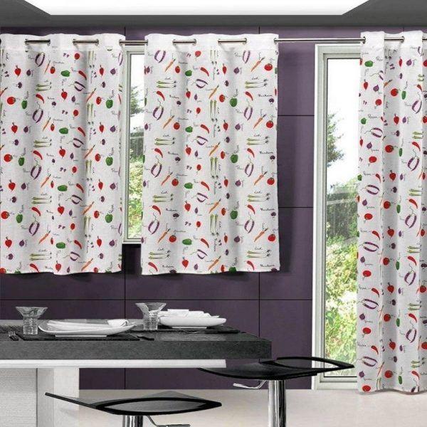 C mo hacer una cortina para la cocina for Telas de cocina