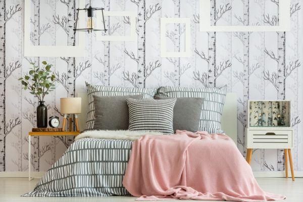 Fotos de colores para dormitorios 2018 for Papel pared habitacion matrimonio