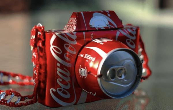 Ideas para reciclar - Reciclar ropa, botellas y envases cámara de fotos