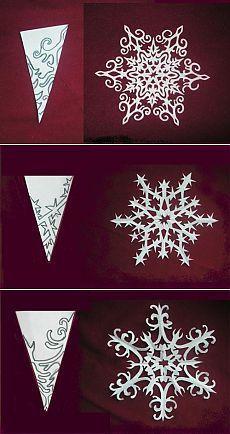 Cómo hacer un copo de nieve de papel para la decoración en Navidad patrones