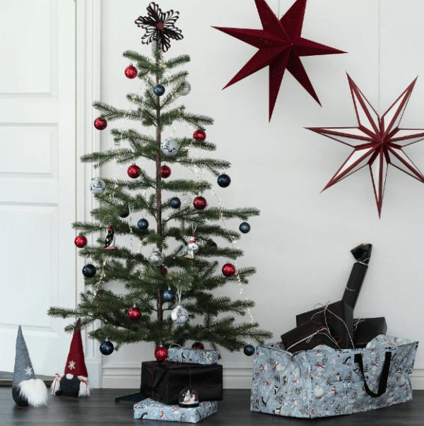 Catálogo Navidad IKEA 2020 estrella azul y roja
