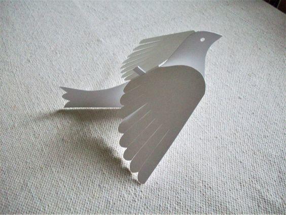 Cómo hacer palomas de papel en Navidad 3D