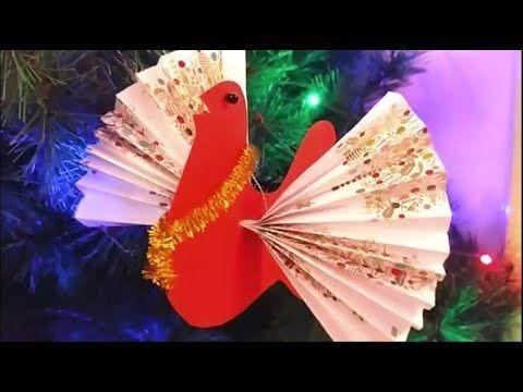 Cómo hacer palomas de papel en Navidad colores