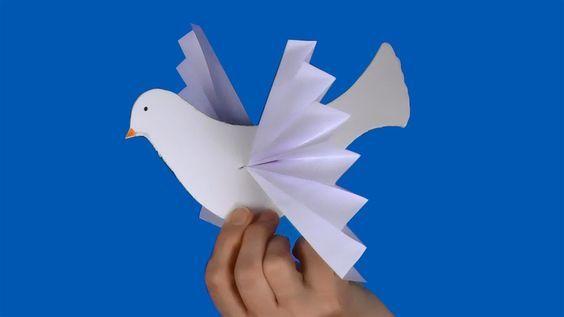 Cómo hacer palomas de papel en Navidad fáciles
