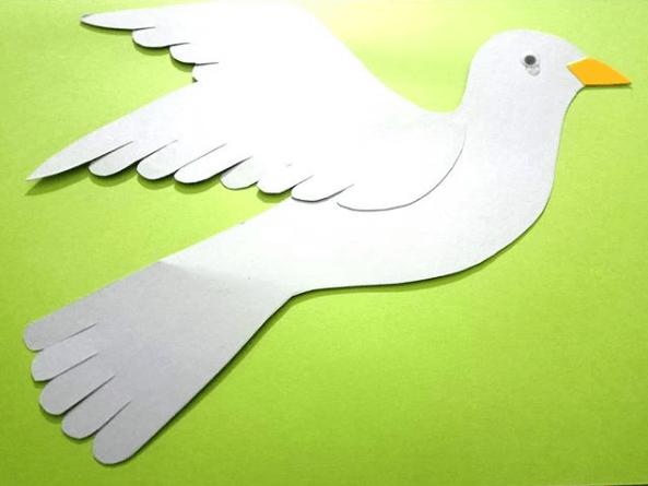 Cómo hacer palomas de papel en Navidad peques