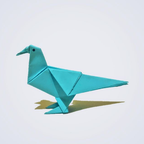 Cómo hacer palomas de papel en Navidad papiroflexia
