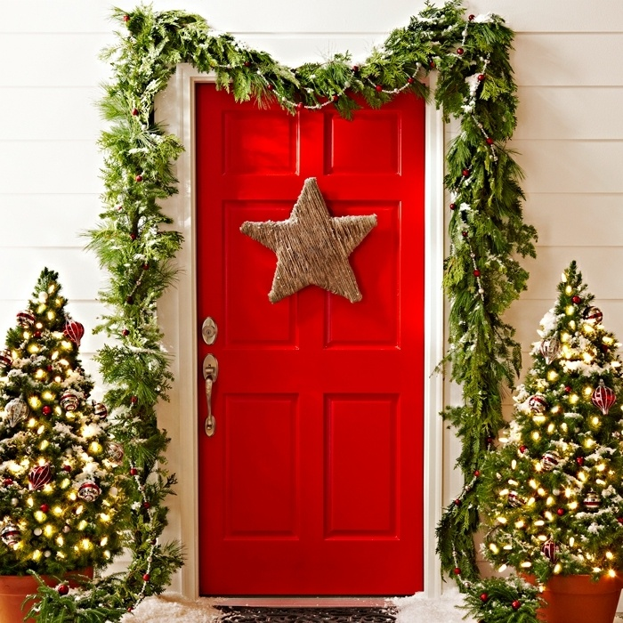 Puertas decoradas para Navidad 2020